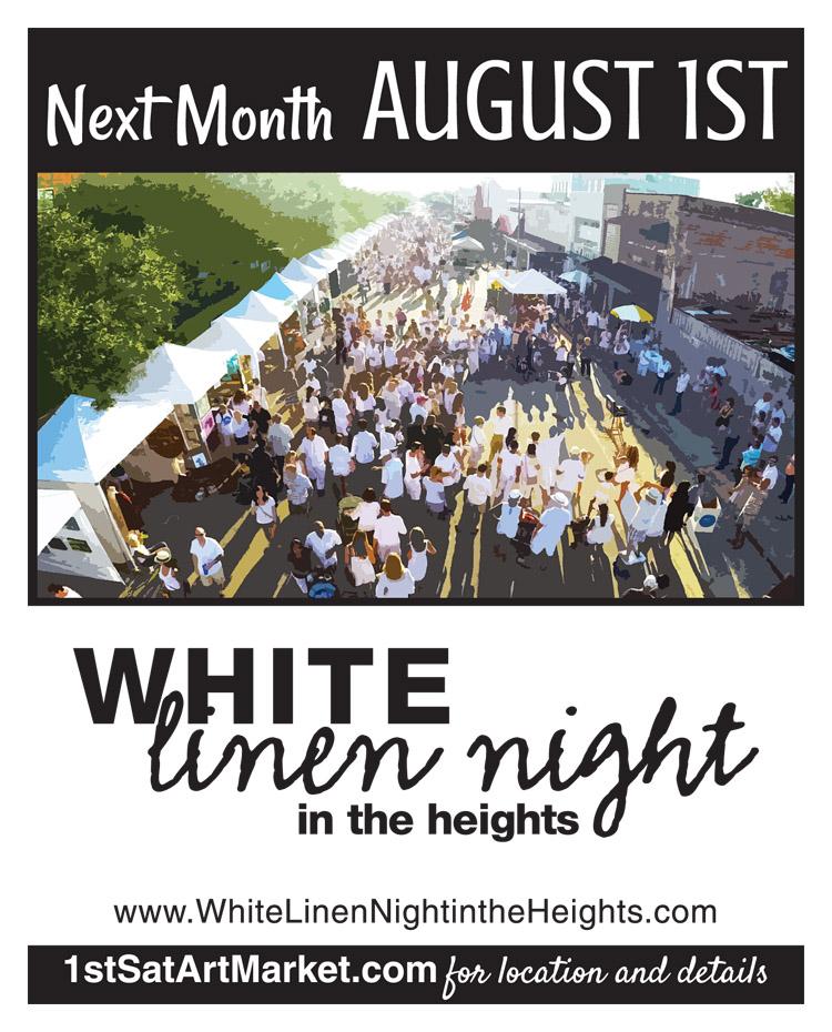 White Linen Night Poster