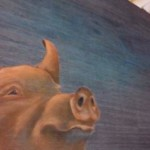 Pig detail by Lacey Crawford