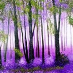 Purple Forest by Anahit Burke