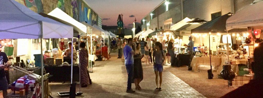 The Market at Sawyer Yards at Night