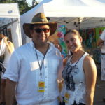 Christina Todaro and Mitch at White Linen Night