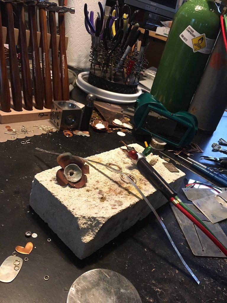 Chrissy Doolen's workbench.
