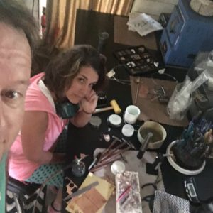 Chrissy Doolen in the studio.